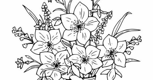 hard coloring pages of flowers - photo#23