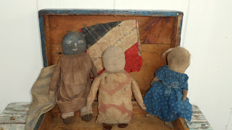 Sawdust and Rag stuffed dolls, by Pamela Haber- All early 1800&#39;s textiles used...