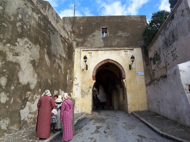 Ladies Talking at the Medina Gate in Tangier, Morocco