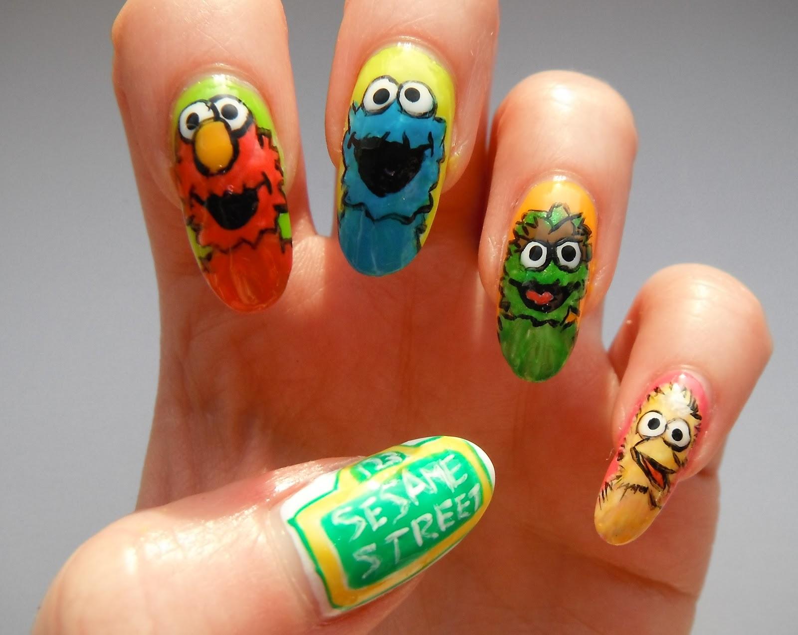 Sesame Street Nail Art Nails Gallery