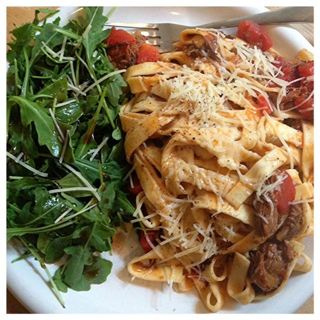 Big City (small) Kitchen: Knockoff Eataly short rib ragu fettucine