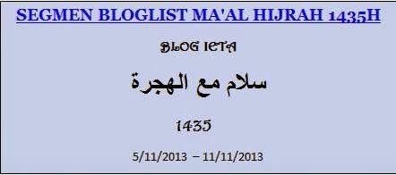 SEGMEN BLOGLIST MA'AL HIJRAH 1435H, Ma'al Hijrah, Blog ieta