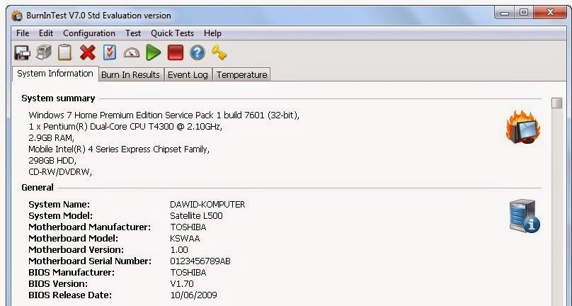 BurnInTest Standard 8.0.1019 Free Download