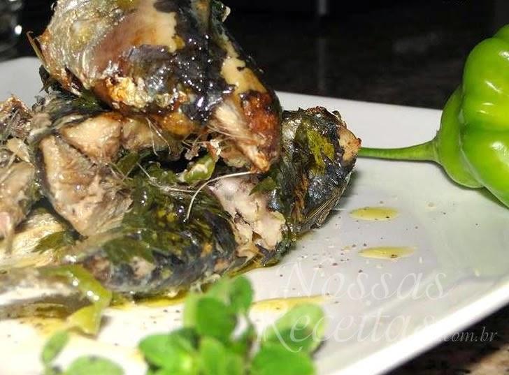 Receita de peixe sardinha no papelote