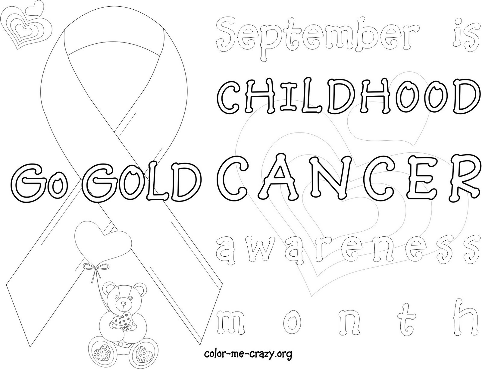 ColorMeCrazyorg New Cancer Awareness Coloring Pages