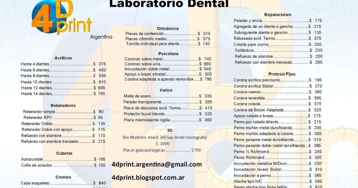 Lista De Precios 4dprint