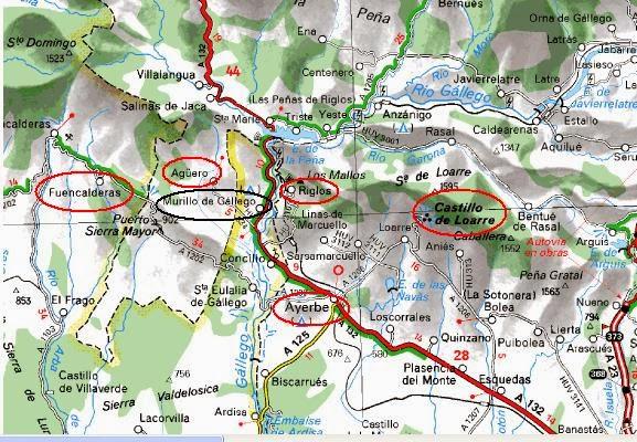Paisajes ciclistas Murillo Riglos Castillo de Loarre