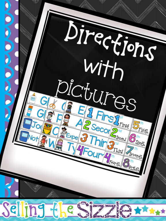 http://www.teacherspayteachers.com/Product/Directions-with-Pictures-774055