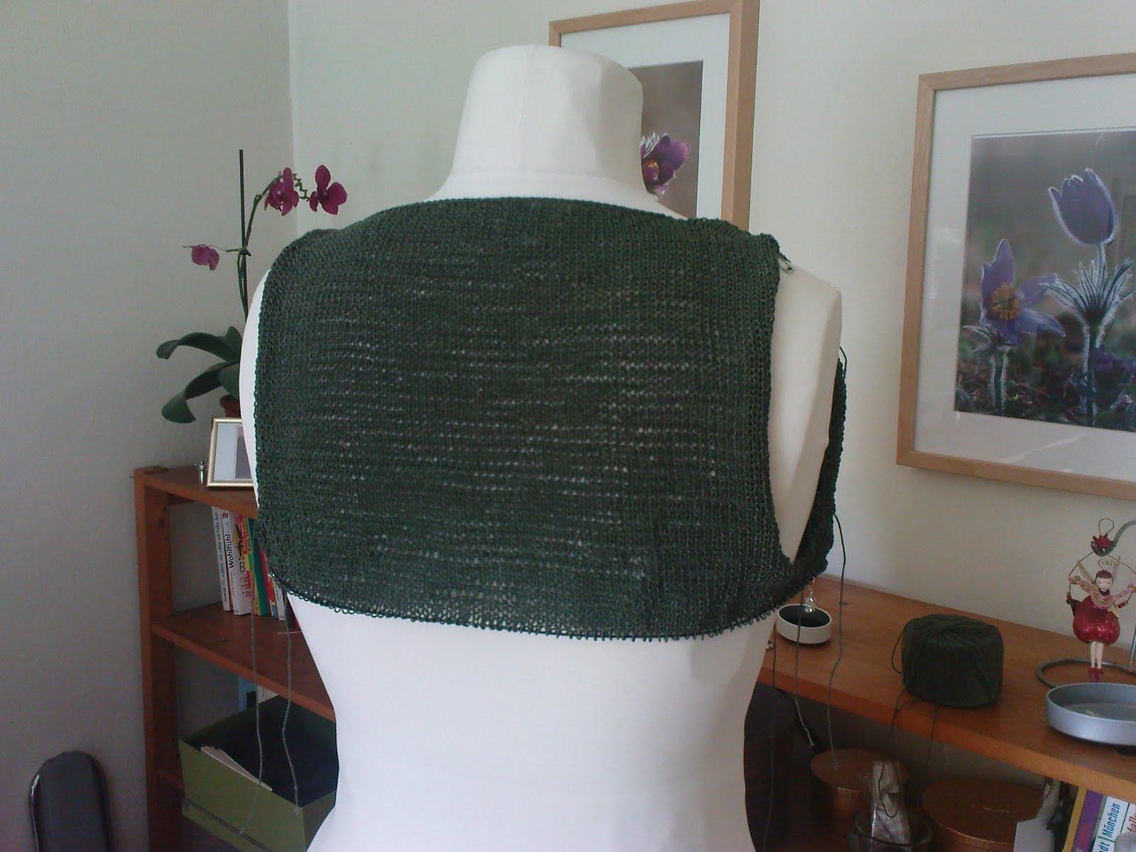 Stricken Nach Maß Olivegrünes Sommerkleid