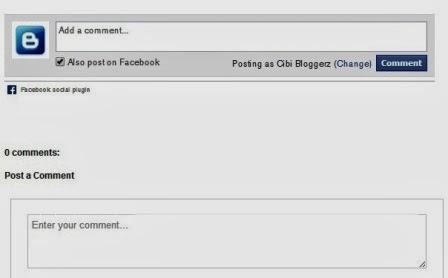 kotak komentar facebook di blog