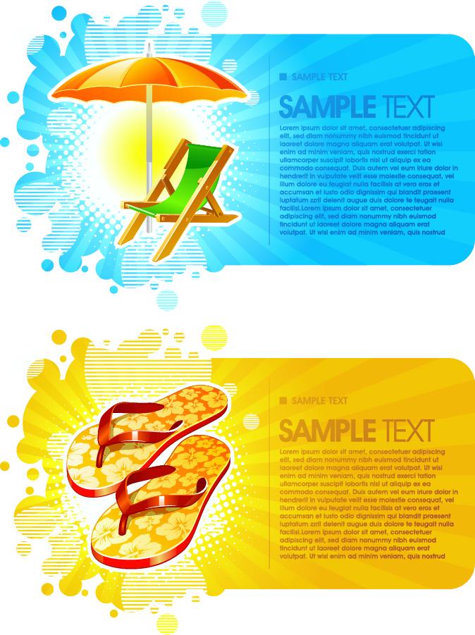 ビーチをイメージしたカード背景 summer fashion card background イラスト素材