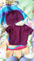 Mrs U Makes... Baby Blizzard Cardie and Basic Crochet Hat