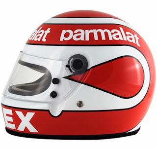 Il casco di Nelson Piquet. Suo figlio ne usa uno praticamente uguale
