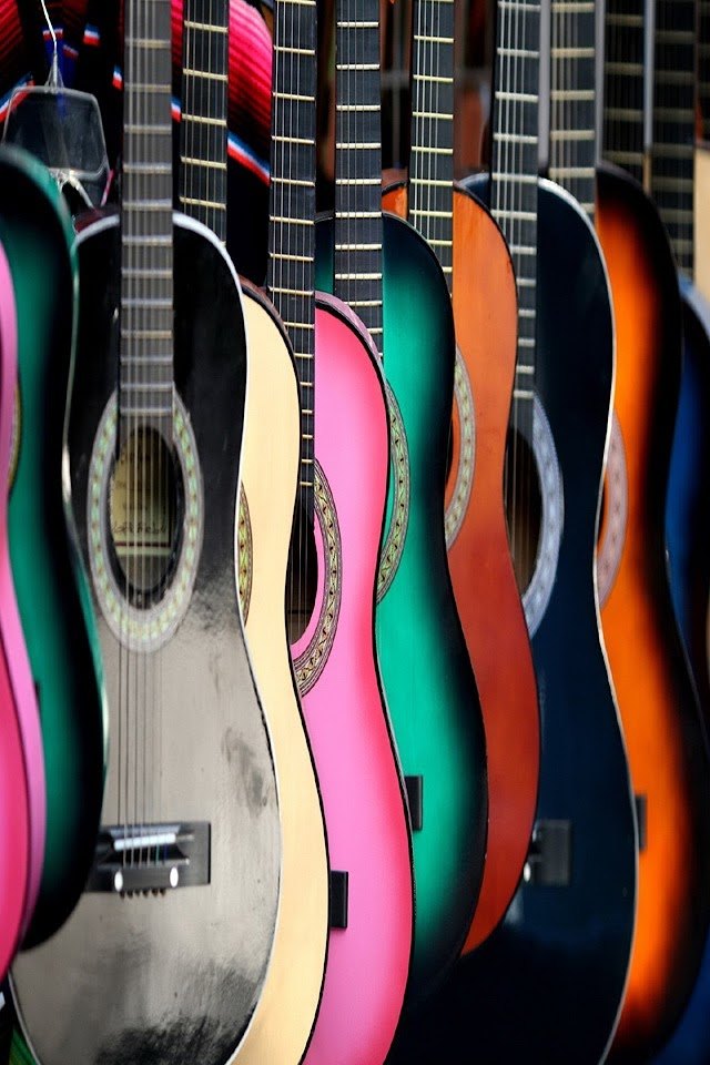 Numerous Guitars   Galaxy Note HD Wallpaper
