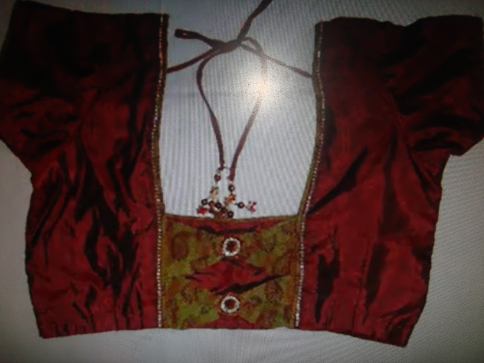 maroon colour blouse