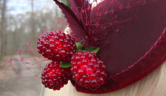 berries, fascinator, jazzafine