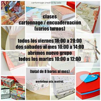CLASES CARTONNAGE CONTINUADAS (martes, viernes o sábados)