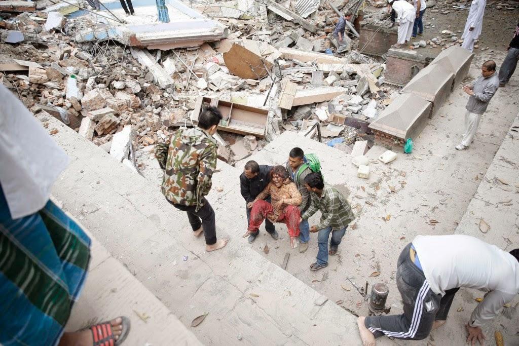 természeti katasztrófa, földrengés, Nepál, Katmandu,