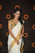 Actress Nivitha Glamorous photos in Saree-thumbnail-1