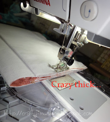 Everything Wristlet: sewing through some crazy thickness