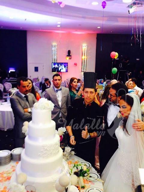حصرياً شاهد روعة كعك زفاف أخ أسماء لمنور