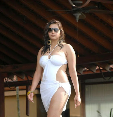 Namitha in White Bikini Spicy Photo