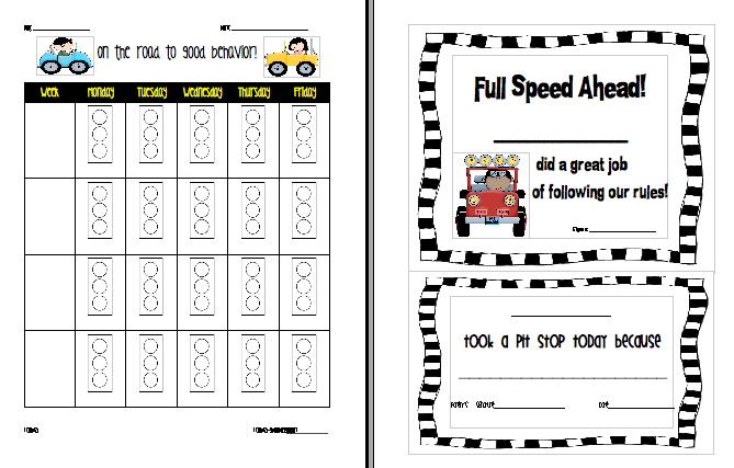 Behavior Pictures to Printable Printable Behavior Charts For