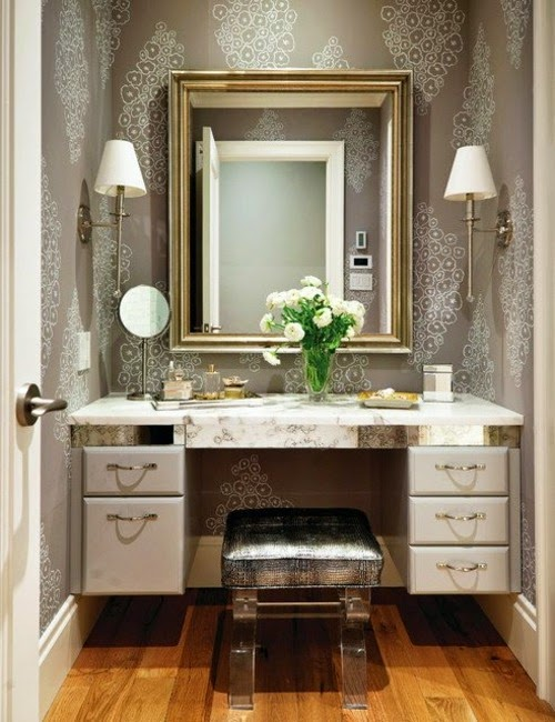 Latest modern dressing table designs with mirror for for Bathroom dressing ideas
