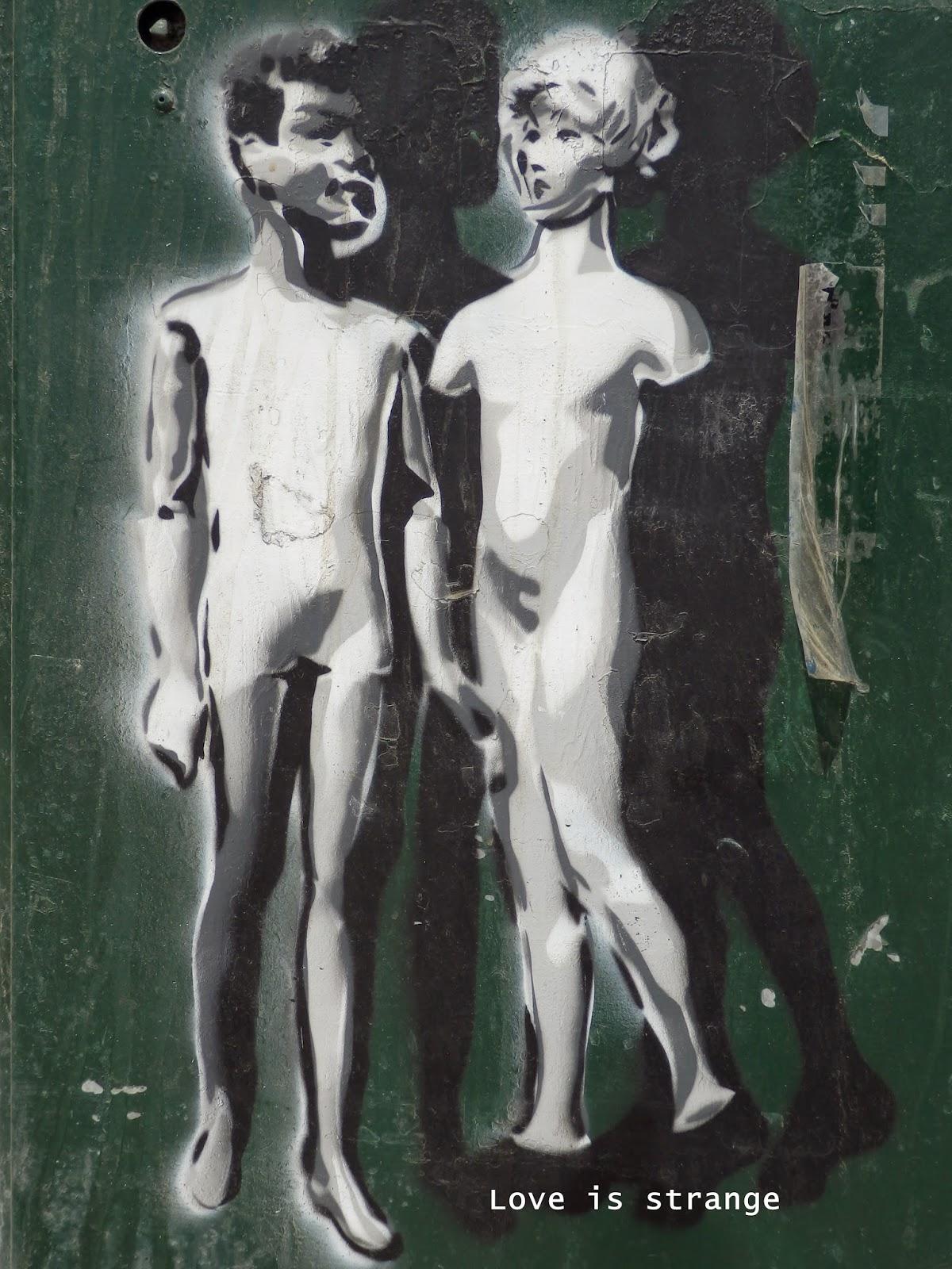 Love is strange street art