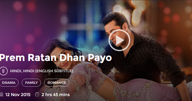 Watch Prem Ratan Dhan Payo 2015 Hindi Online Free