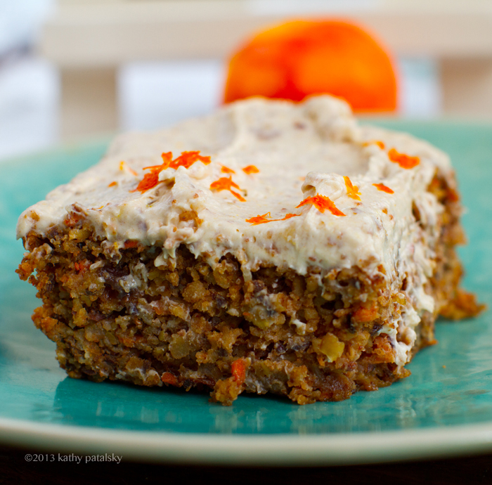 Vegan Carrot Cake With Cream Cheese Frosting Healthy Dessert