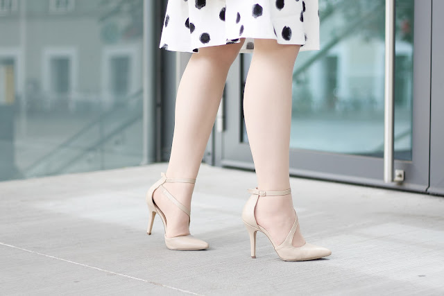 strappy nude pumps