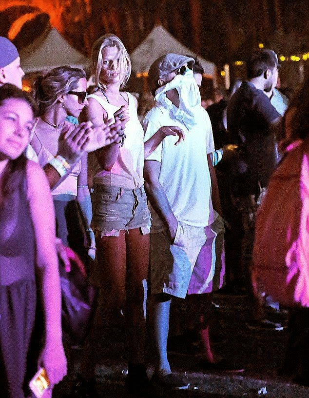 Leonardo DiCaprio attended the three day music festival with 21-year-old model girlfriend, Toni Garrn