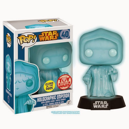 Toy Wars Exclusive Holographic Emperor Palpatine Pop! Star Wars Vinyl Figure by Funko