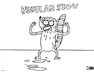 Regular Show coloring pages Ribgy