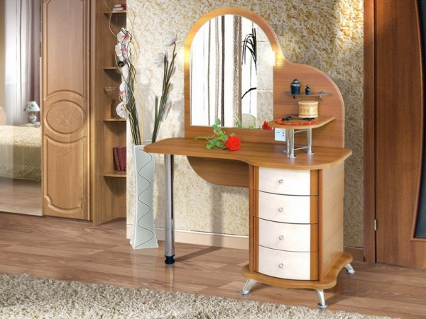 Wooden Dressing Table ~ Functional small dressing table designs ideas and expert tips
