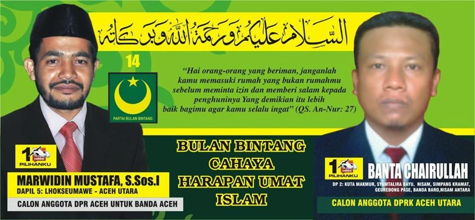 Calon Anggota DPR Kabupaten Aceh Utara Nomor Urut 1. Pemilu Legislatif 2014 DaPil-2 ; Kuta Makmur, Syamtalira Bayu, Nisam, Simpang Keuramat, Geureudong Pasee, Banda Baroe, Nisam Antara
