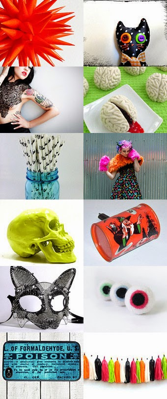 Neon Halloween Etsy Treasury, curated by Brittanibus