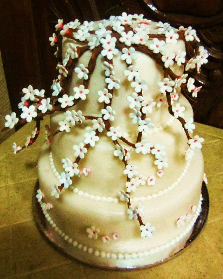 Franco\'s Cakes and Pastries: Cherry Blossom Inspired Fondant Cakes
