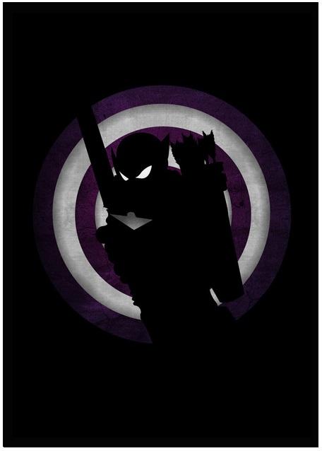 Lily's Factory ilustrações quadrinhos super heróis marvel dc sombras minimalistas Gavião Arqueiro