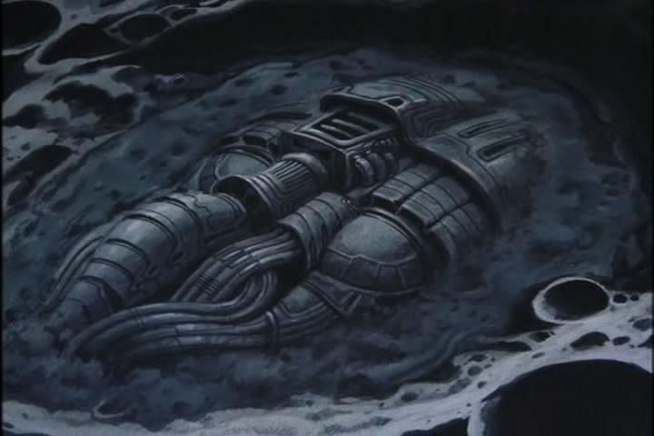Záhadný titulní monument vystupující na povrch Měsíce