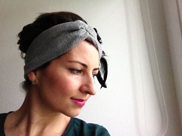 turbante - tocado con plumas