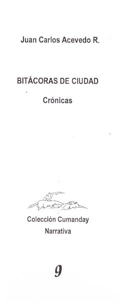 Libro Bitácoras de ciudad -Crónicas