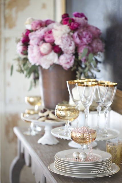 New Years Eve drink and treat table idea
