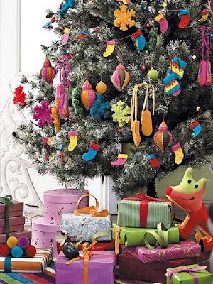 árbol navidad grande colores alegres