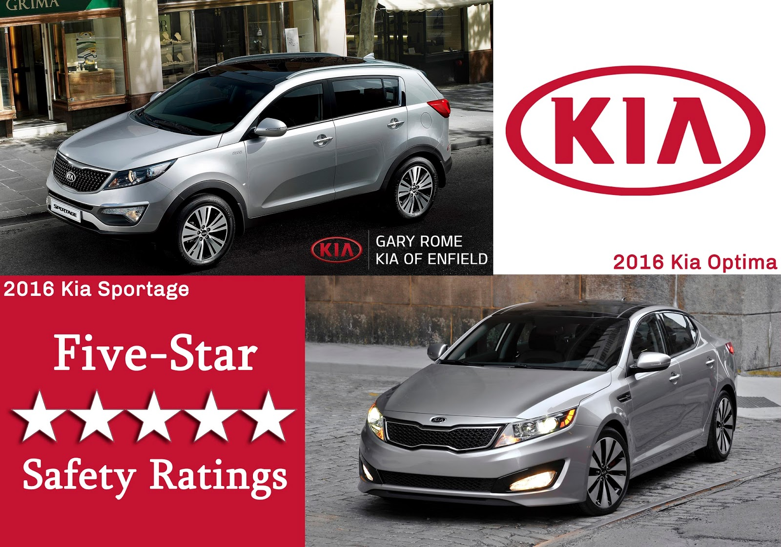 Five Star Safety Ratings For All New Kia Optima U0026 Sportage