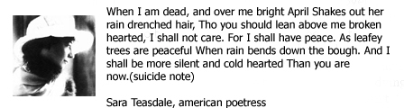 ... Note By Sara Teasdale - American Poetress - Famous Suicide Quotes