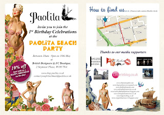 Paolita swimwear, launch invite