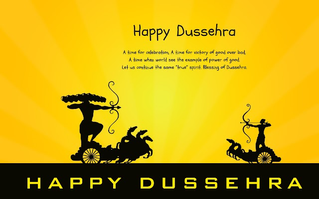 Our thoughts hold the power to build,bend or break our circumstances,Best wishes of Happy Dussehra.