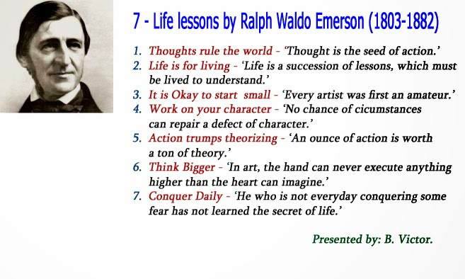 bonvictor pot com life lessons by ralph waldo emerson  he was a founder of the transcendental movement and published essays on self reliance and american scholar he delivered more than 1500 public lectures